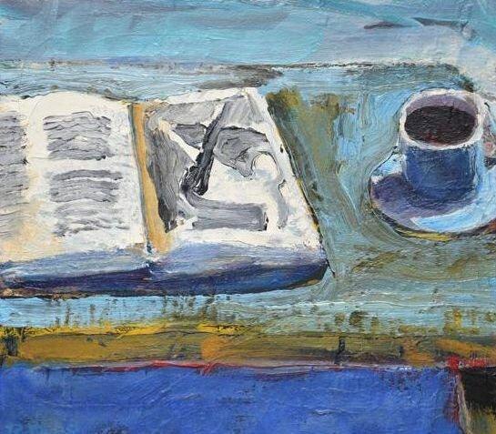 Richard Diebenkorn,  Still Life with Book , oil on canvas, 1958.