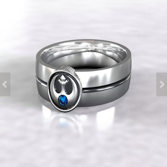 Star Wars Rebel Alliance Wedding Ring