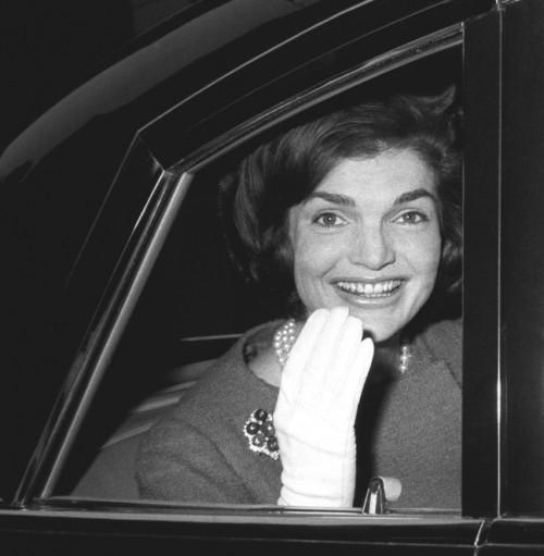 Jackie Kennedy in Limosine, 1962