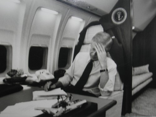 President Carter on Air Force One, 1979