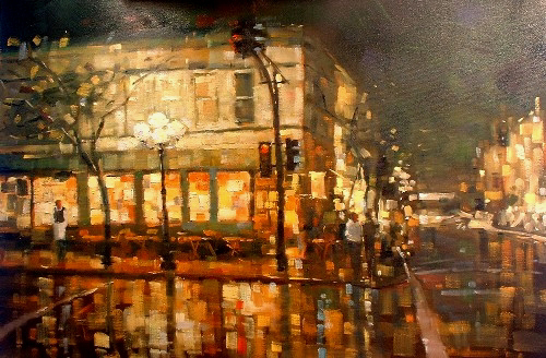 "City Reflections 36""x24"" - RARE EDITION"