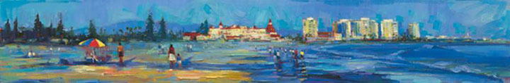 "Coronado Beach Walks 12""x72"""