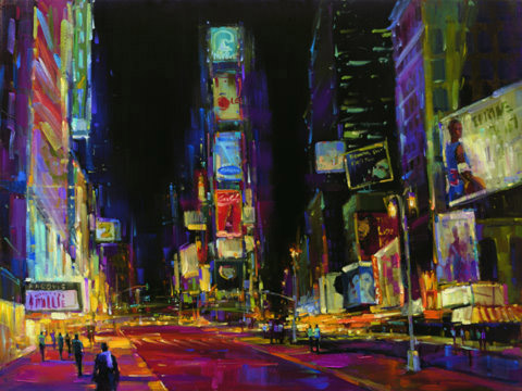 "Good Times Square 36""x48"" - RARE EDITION"