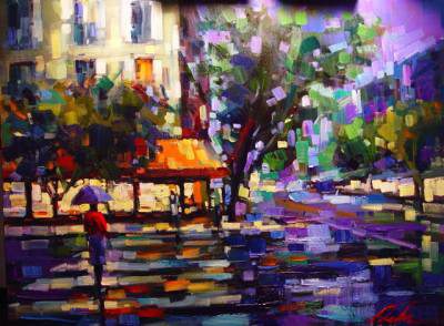 "Parisian Nights 29""x22"" - RARE EDITION"