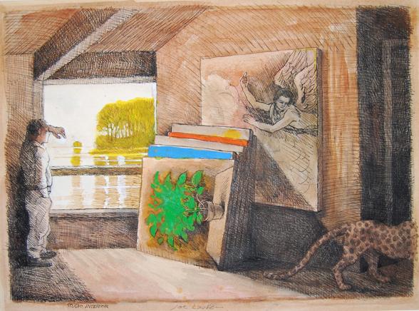 """Studio Interior 23.75"""" x 29.75"""""""