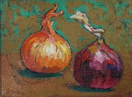"""Two Onions 6"""" x 8"""""""