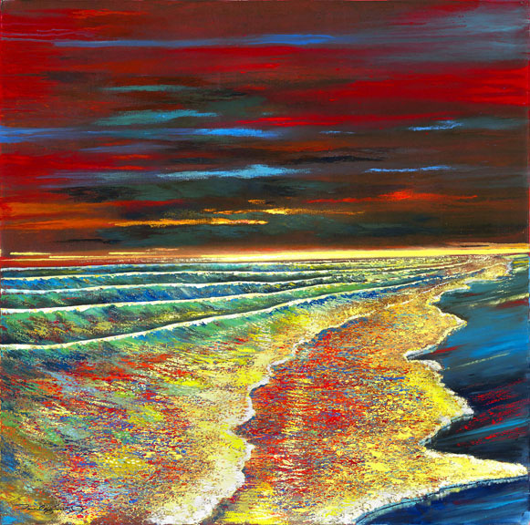 """Waves of Passion 44""""x44"""""""