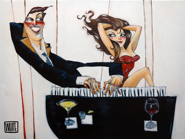 """He's Got Her Keys 30""""x40"""" - SOLD OUT EDITION"""