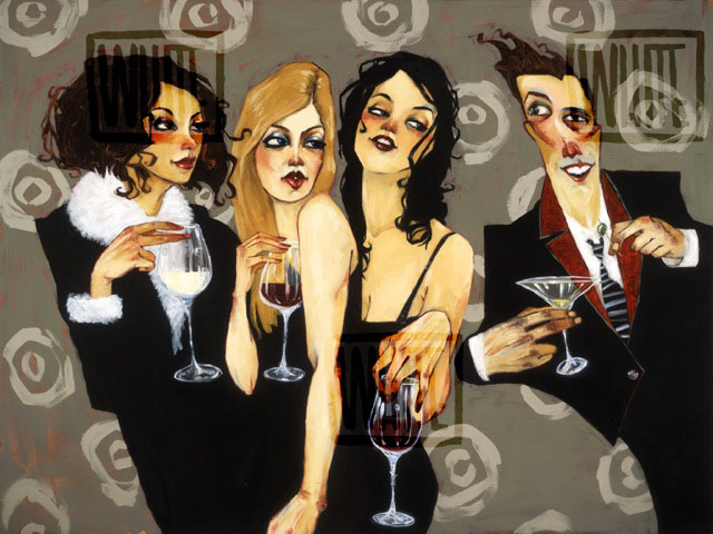 """Intoxication At The Flower Lounge 32""""x23.75"""""""