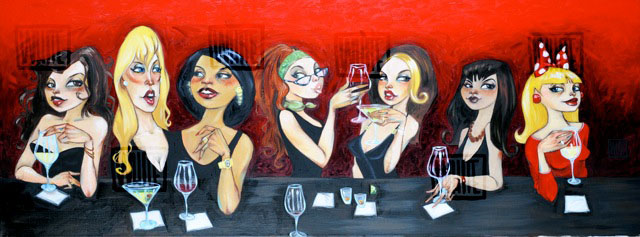 """These Girls Are Better Off In My Head 40""""x17"""""""