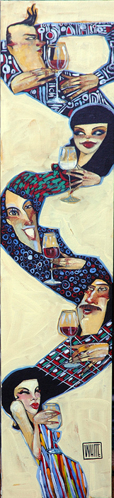 """Wined Up 40""""x9"""""""