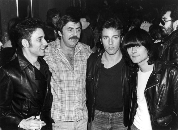 DD Ramone, Bruce Springsteen, Tommy Dean & Robert Gordon, NYC, 1977