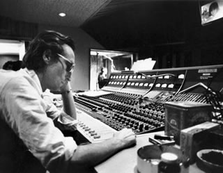 At Control Board, Hit Factory, 1980