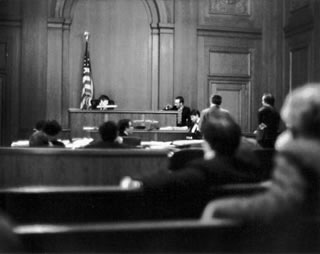 In Court, NYC, 1976