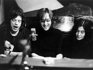John, Yoko, & Mick, NYC, 1972