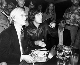 Andy Warhol & Mick Jagger, NYC, 1977