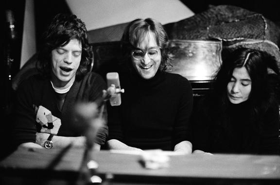 John Lennon, Yoko Ono & Mick Jagger