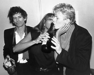 Keith Richards, Tina Turner & David Bowie,