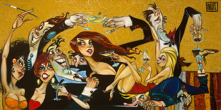 """Aneurism in Los Angeles 18""""x36"""""""