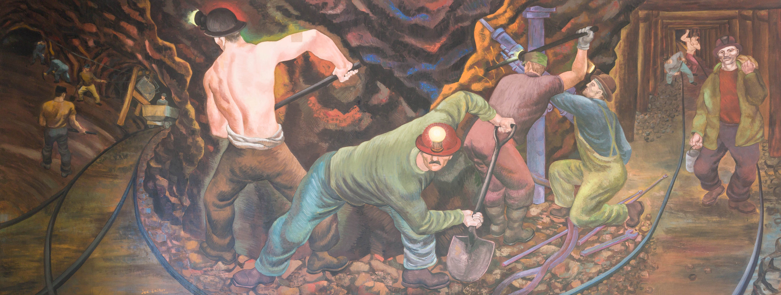 Copper Mining in Michigan - Mural