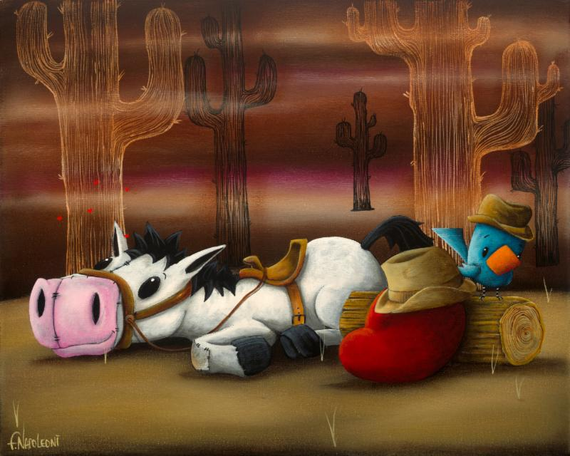 "Sweet Little Cowboy Dreamer - 16"" x 20"""