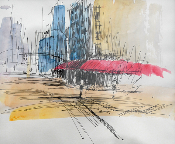 "New York Light Study 9""x7"""