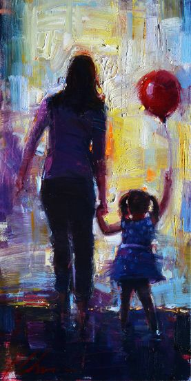 "Red Balloon 18""x36"""
