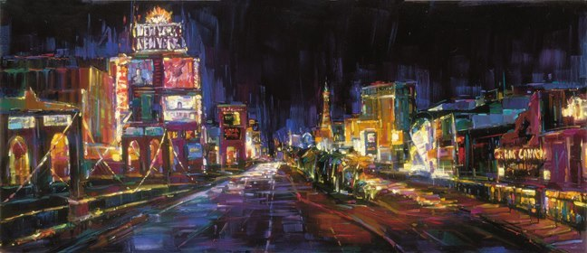 "City of Lights 55.5""x24"""