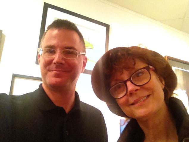 Susan Sarandon at the Dr. Seuss exhibit- January 2015