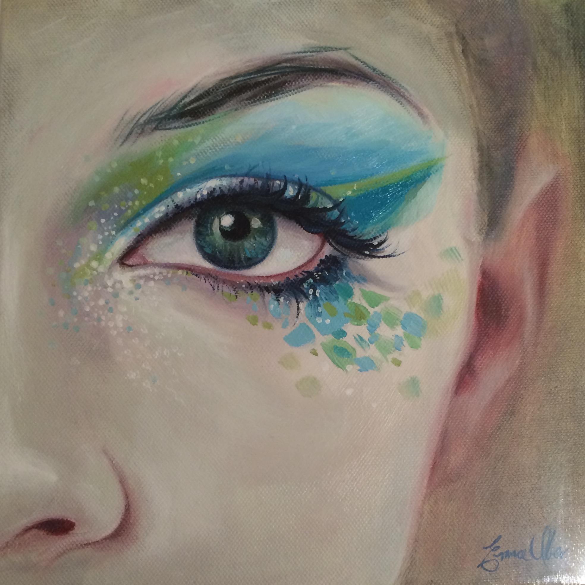 "Sea Eyes 10""x10"""