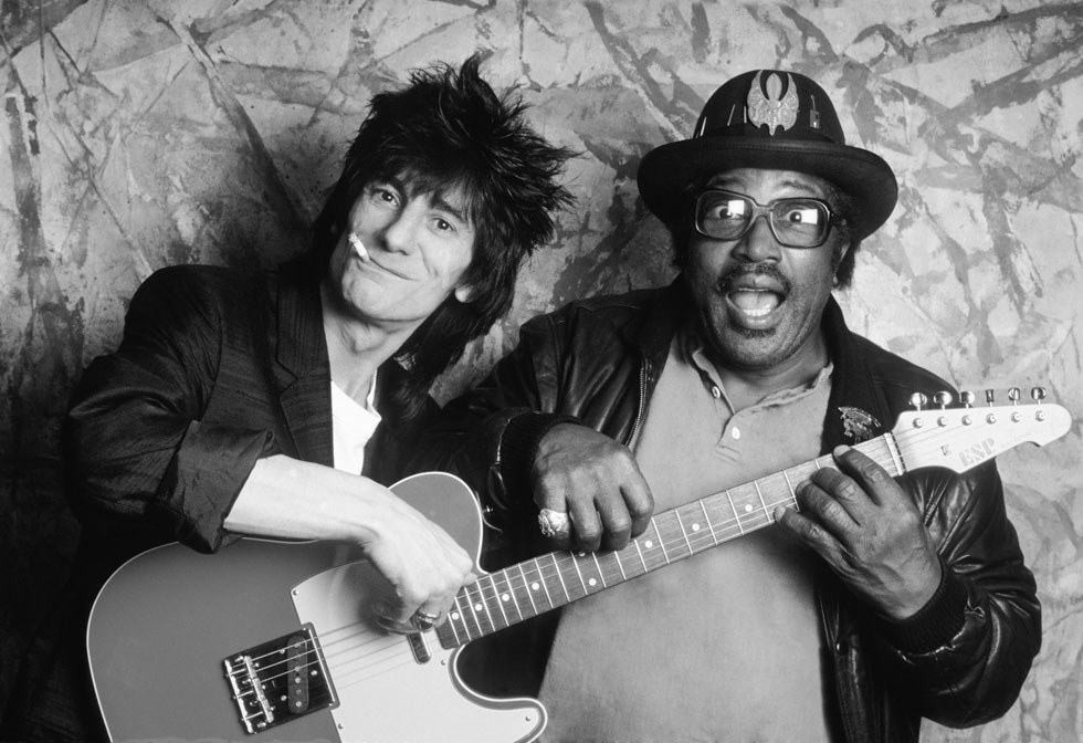 Bo Diddley and Ron Wood 1987