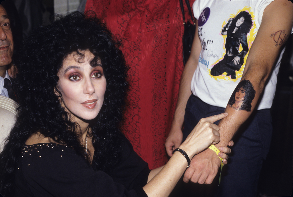 Cher with Fan 1974