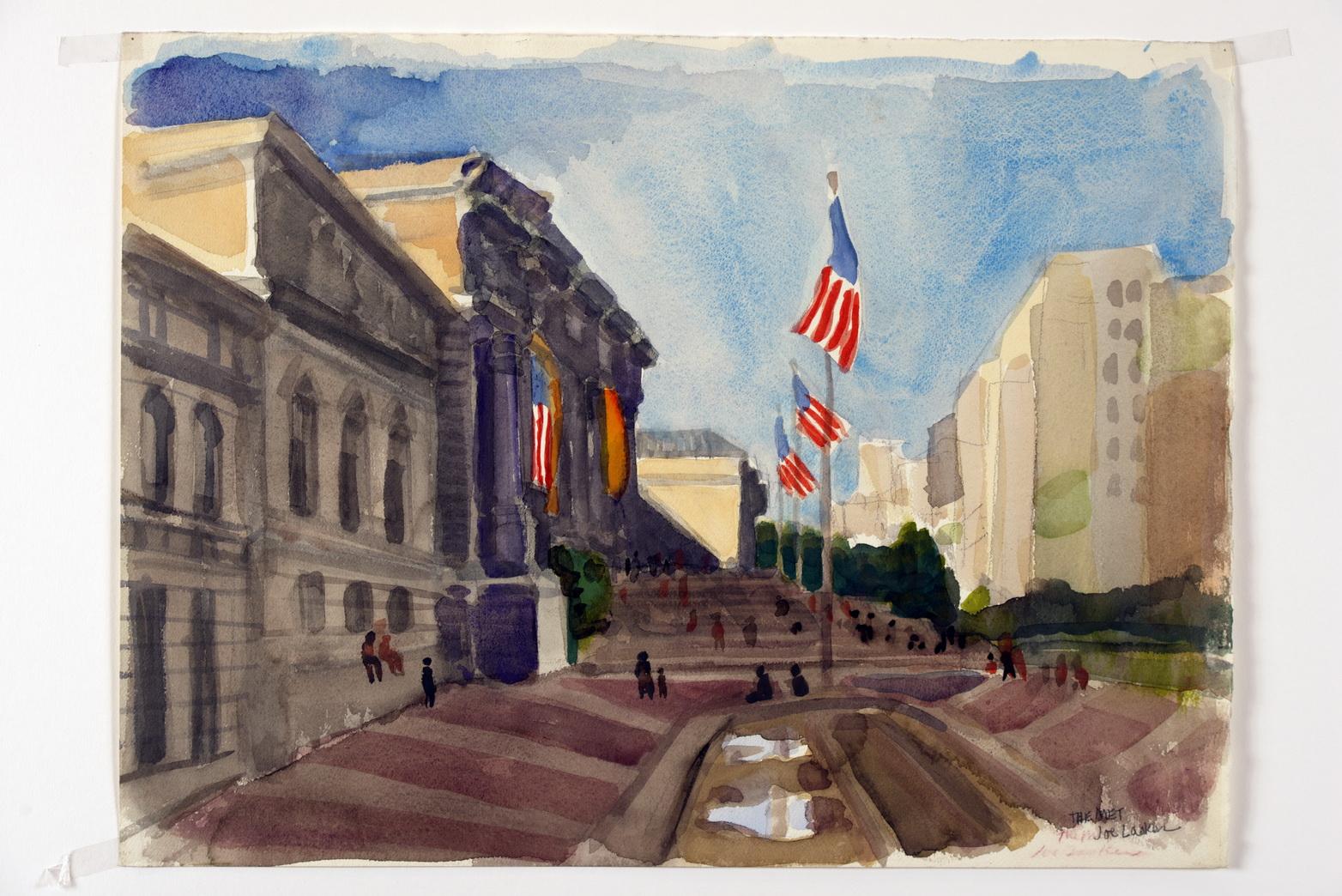 "Metropolitan Museum 14"" x 10"" approx."