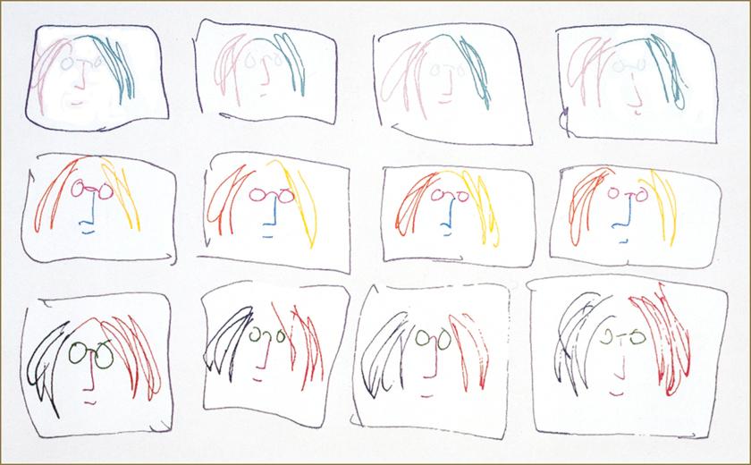 "Multiple Self Portrait 26"" x 42"""