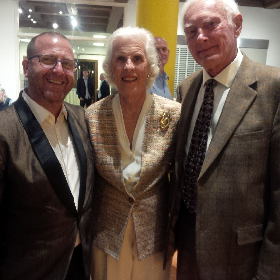Brian Liss with Dr. Seuss' assistant Claudia Prescott and her husband Jim Prescott