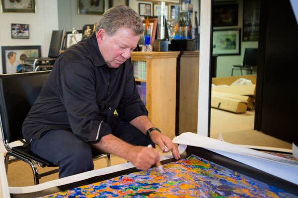 "William Shatner signing ""New Frontier"" LA September 2015"