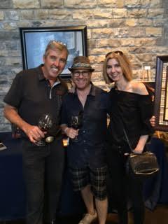 Brian Liss Thomas Arvid and Deborah Morgan at Silver Oak Vineyard