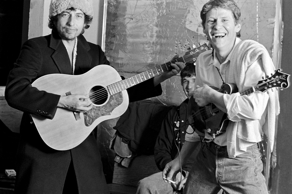 Bob Dylan and Levon Helm 1983