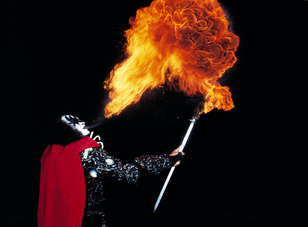 KISS Gene Blowing Fire Kiss NYC 1979