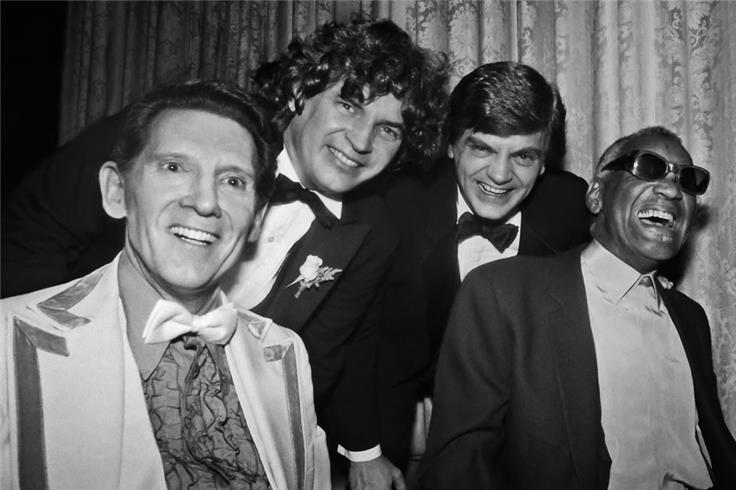 Jerry Lee Lewis, Everly Brothers, Ray Charles, 1986