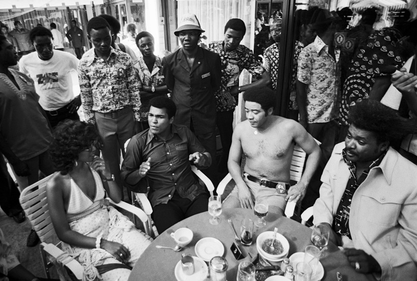 Bill Withers, June Pointer, Ali and Don King, 1974