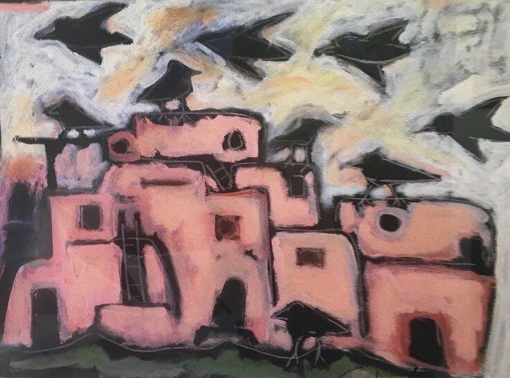 """Raven's Pueblo 13.5"""" x 11"""""""
