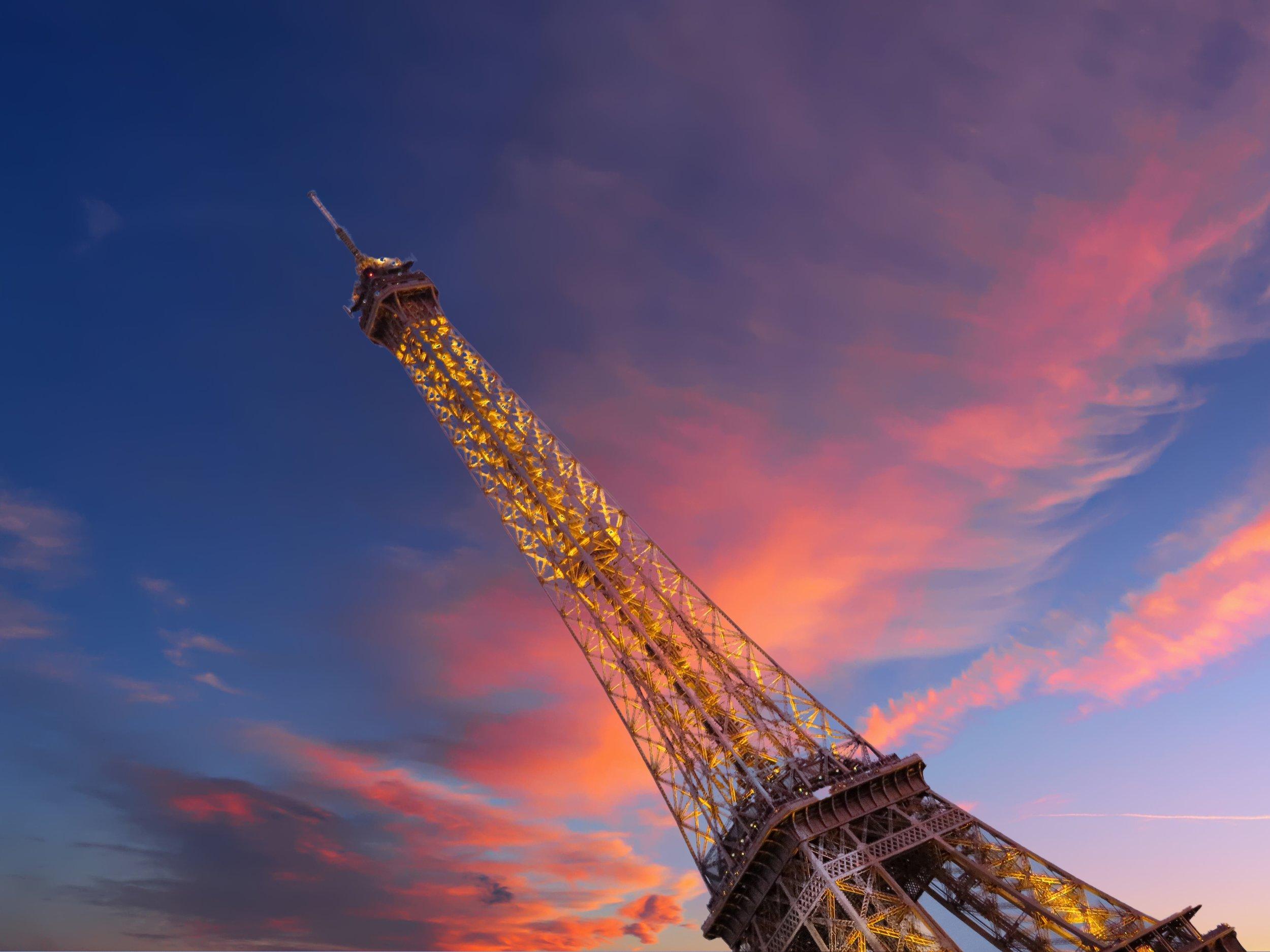 Sunset on Eiffel