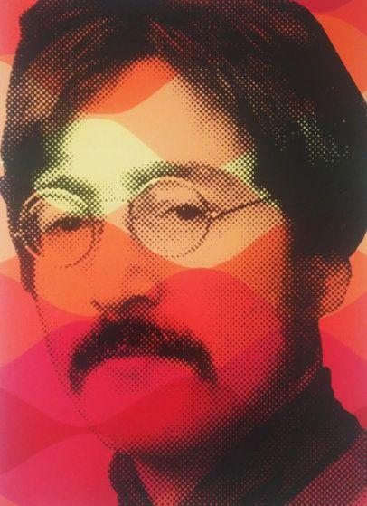 """Vintage Lennon - 22.5""""x30"""""""