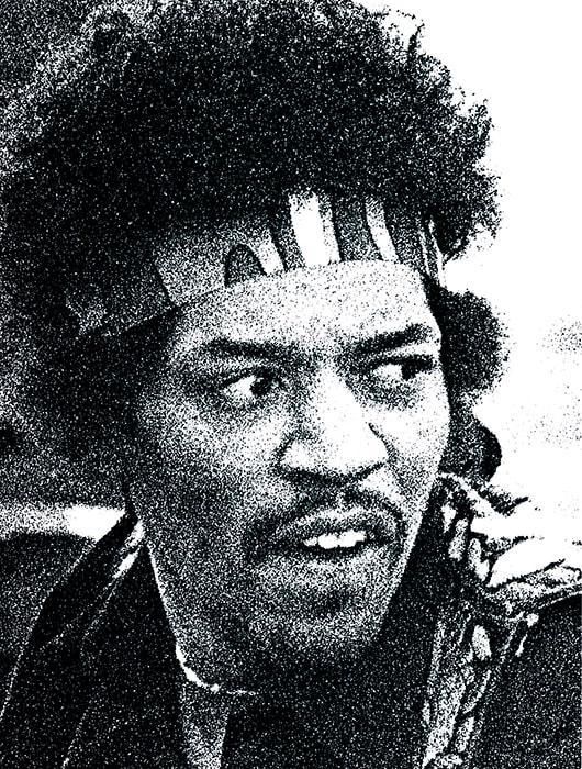 "Hendrix Head - 30""x40"""