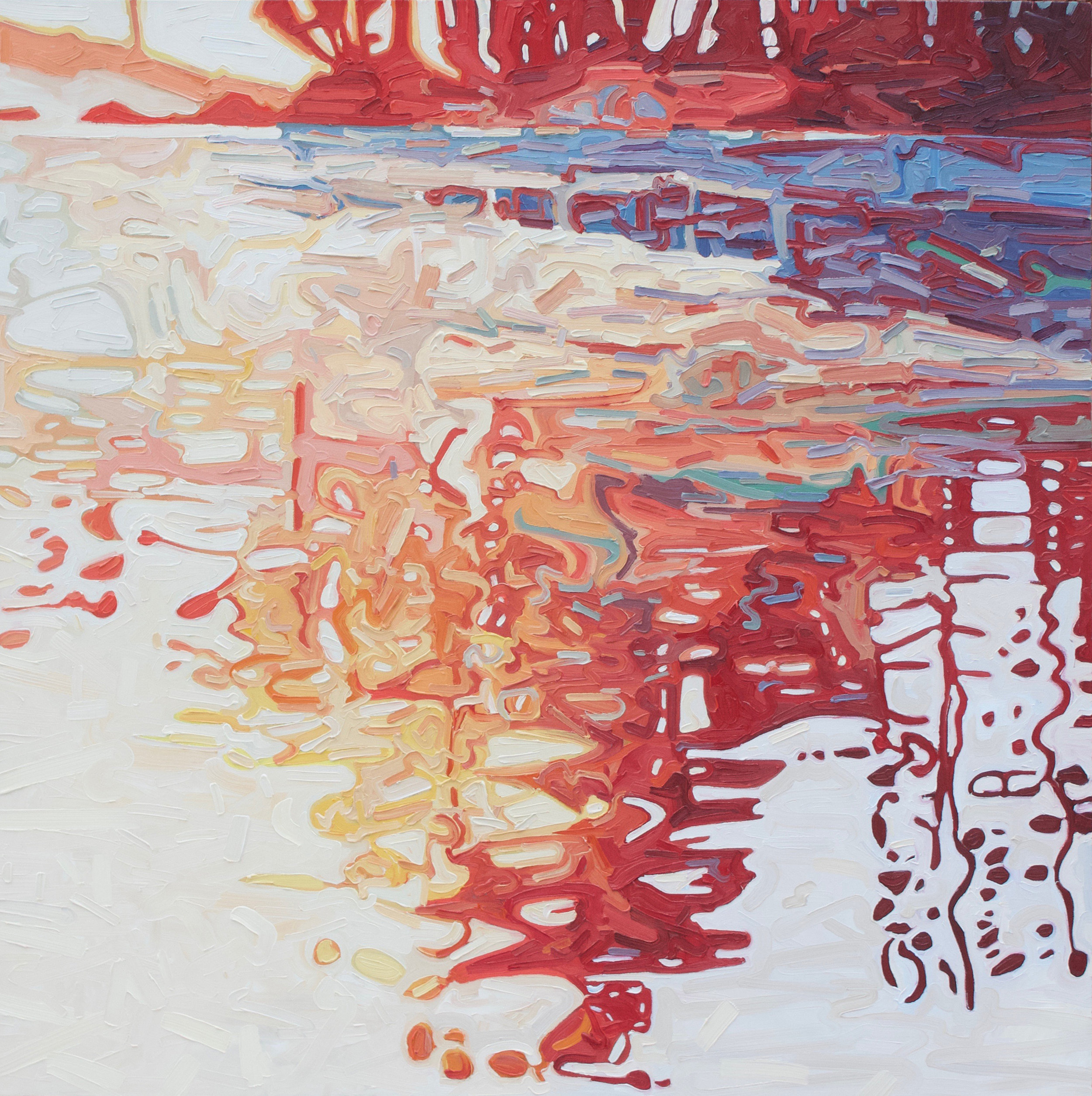 "Resplendent Reflections 1 - 45""x45"""