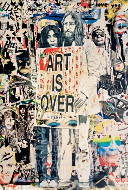 """Art Is Over (Lithograph) - 38""""x23"""""""