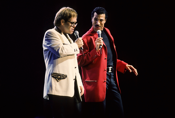Lionel Richie and Elton John, 1992