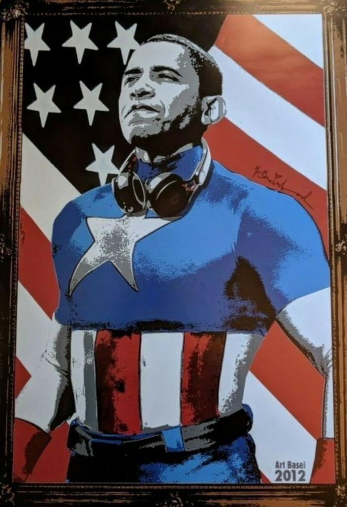 Barack Obama Captain America (Lithograph)