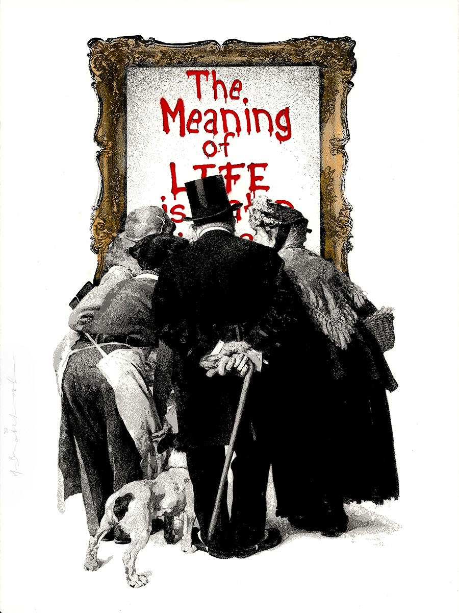 """The Meaning Of Life Red - 30""""x22.5"""""""